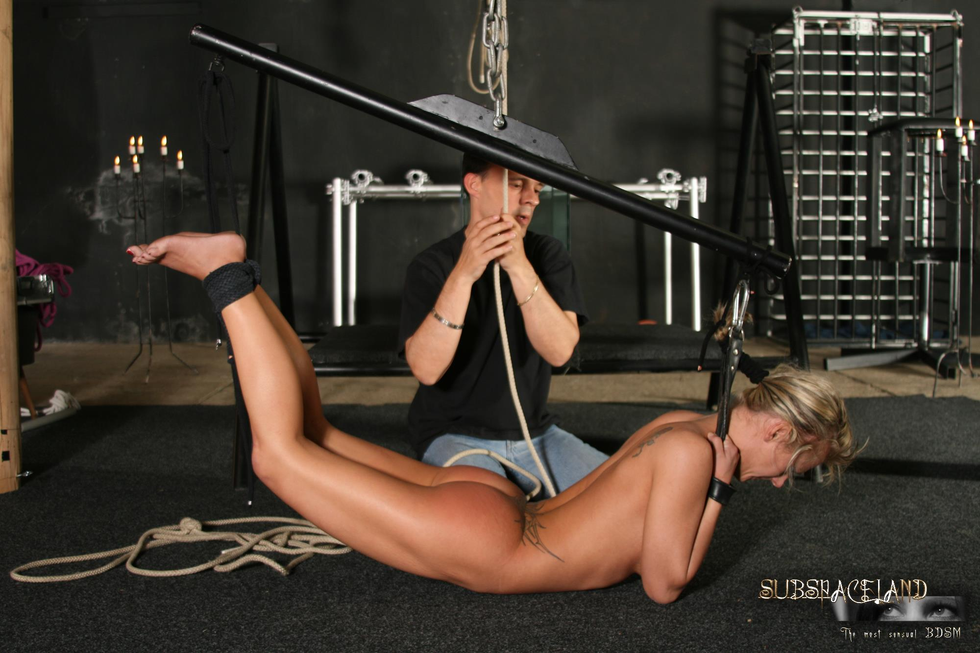 Kinky blonde with nice tits is fucked by muscular farmhand on wooden dock - 4 9