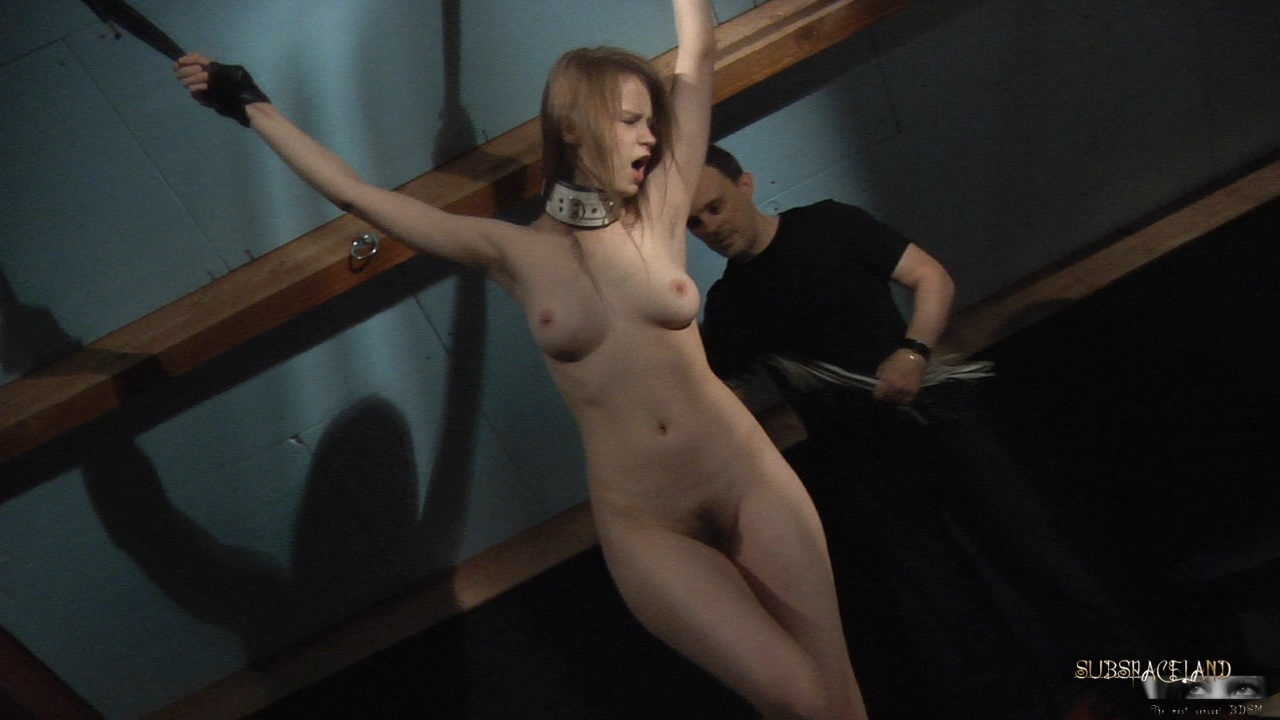 Blonde bdsm submissive restrained and gagged 10