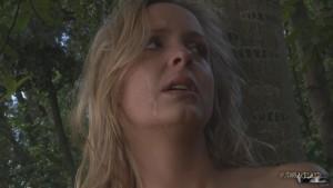 bdsm fetish blonde slave crying tears fear