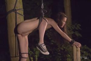 bdsm rope bondage outdoor fetish