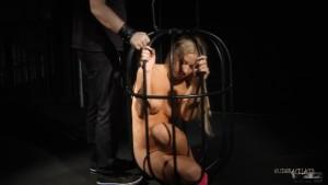 cage blonde slut