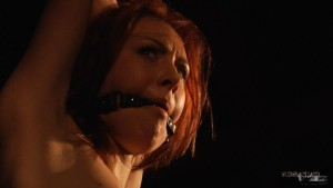 BDSM redhead Alice Marshall ball-gag