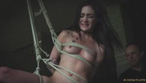 brunette slave rope bondage fetish