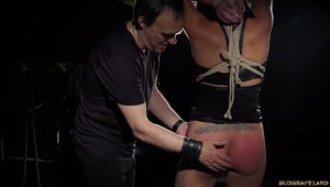 bdsm slapping session rope bondage