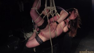 suspended bdsm pain scream