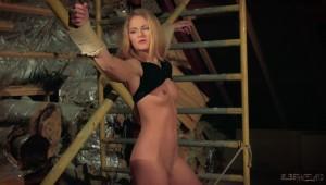 Bonded blonde slave
