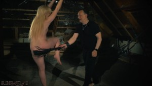 blonde whipping session