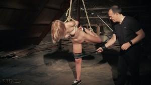 Bonded slave lashed