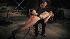 Spanked on lap