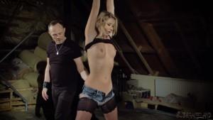 Blonde skinny slave